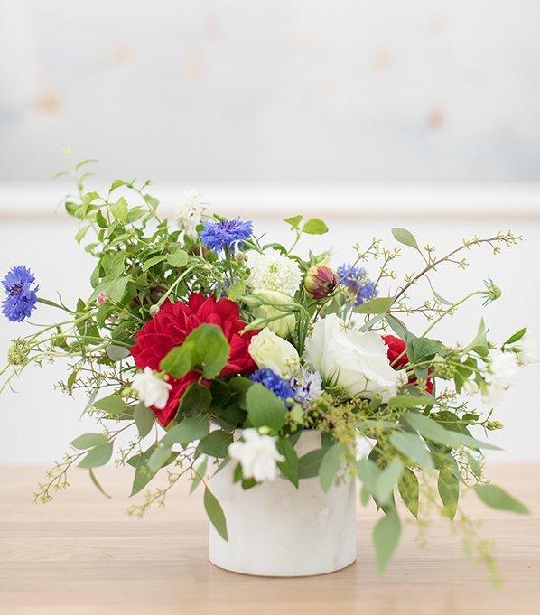 DIY your 4th of July arrangements