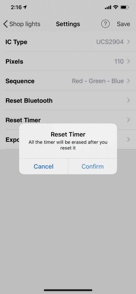 Gemstone Lights Reset Timer